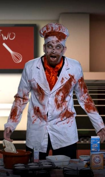 Photo of Zombie Chef Cordon Gruesome from The Wokking Dead.
